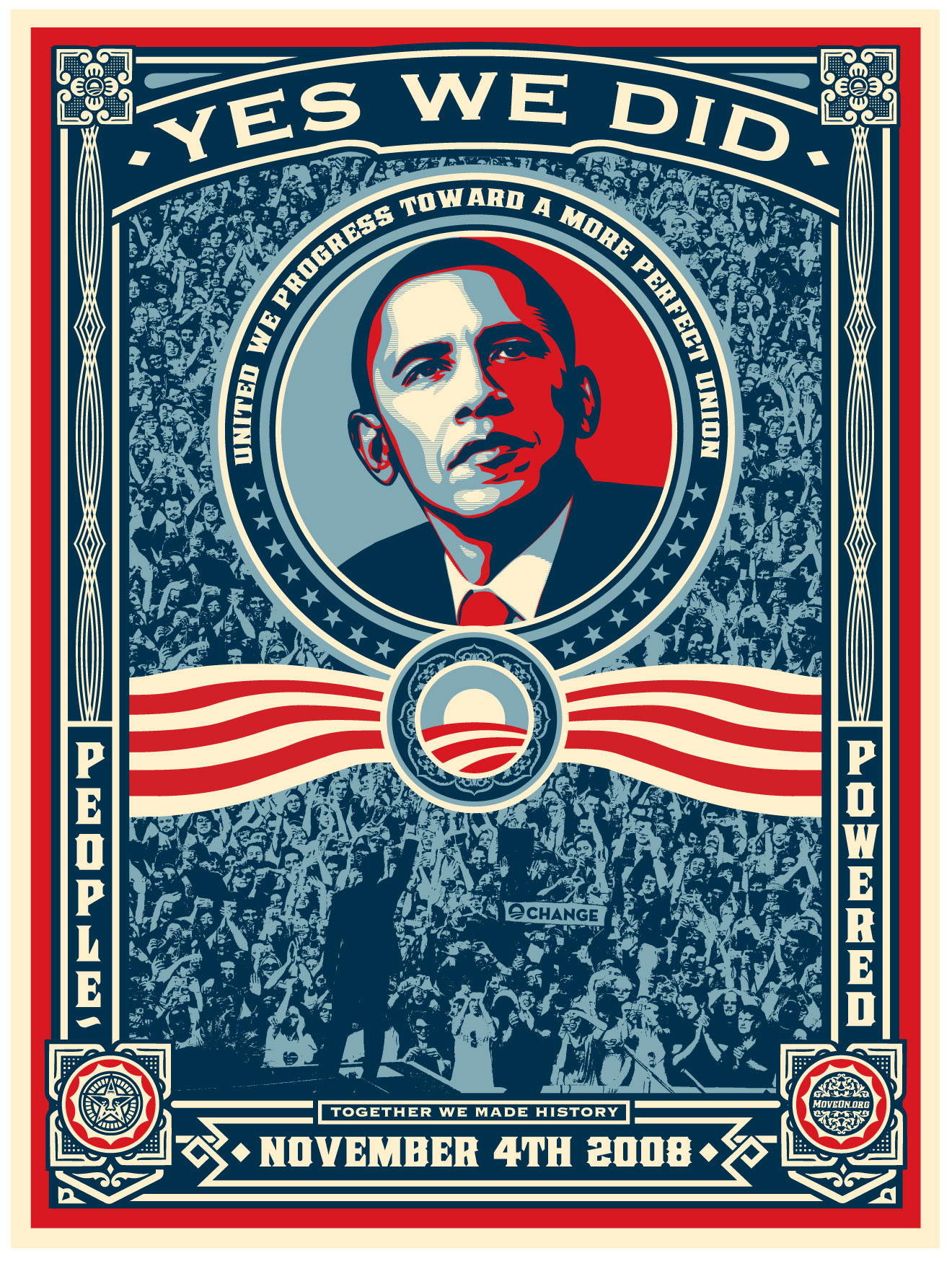Shepard Fairey / Obey Giant Obama Campaign Posters | Just ... Obama Campaign Poster Official