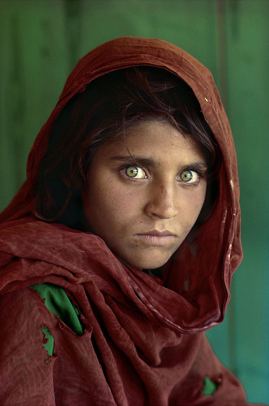 Sharbat Gula's 1984 portrait by Steve McCurry for National Geographic magazine.