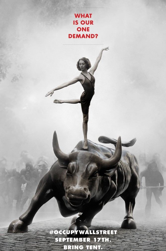 Campaign poster for the Occupy movement - by Adbusters