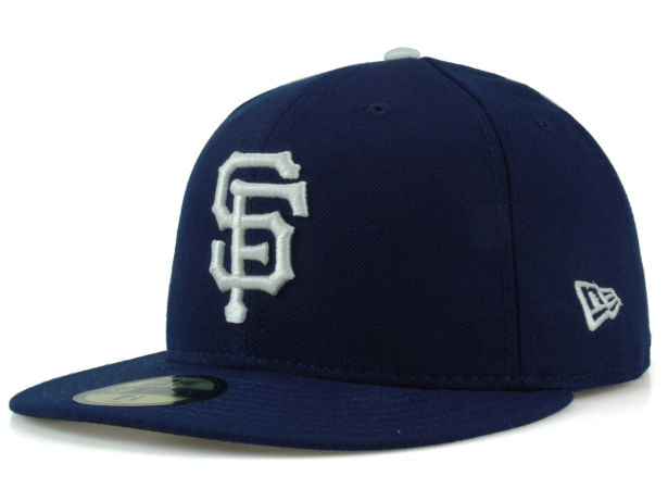 SF Giants logo on white and blue