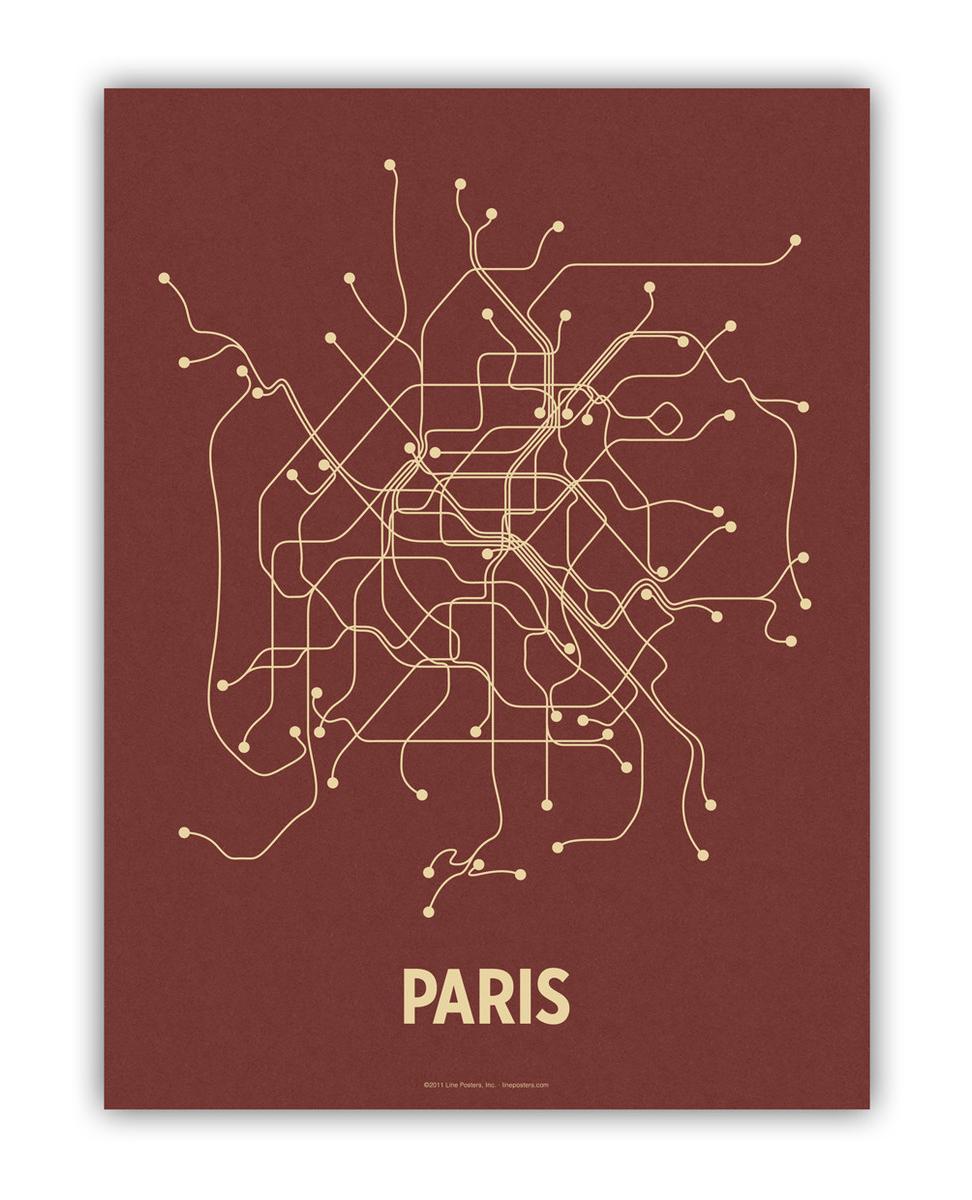 Web Site Design Map: City Transit Line Posters