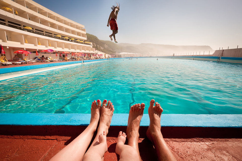 100 meter pool, Hotel Arribas. Praia Grande (near Sintra), Portugal.